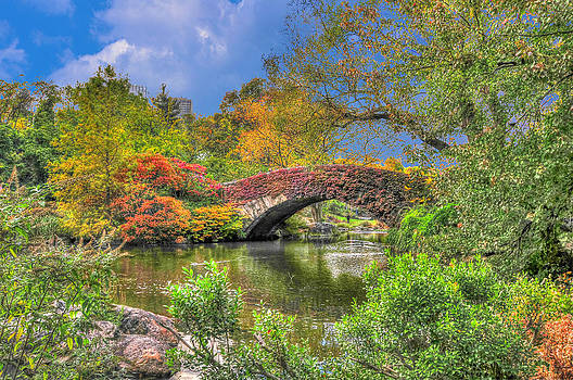 The Gapstow Bridge at the Pond in Central Park Manhattan by Randy Aveille