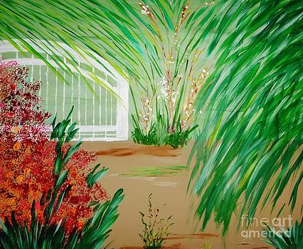 A Tropical Garden Gate by Marie Bulger