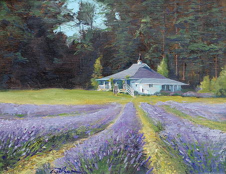 The Gatehouse Store Lavender Farm by Ron Wilson