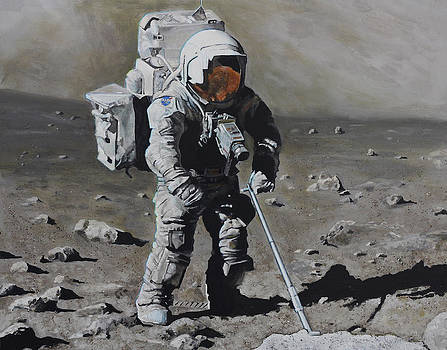 The Geologist- Harrison Schmitt. Apollo 17 by Simon Kregar