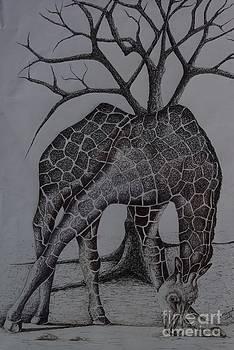 The giraffe by Ainsworth Mckend