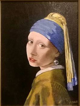 The Girl With the Pearl Earring by Vermeer-R Adair