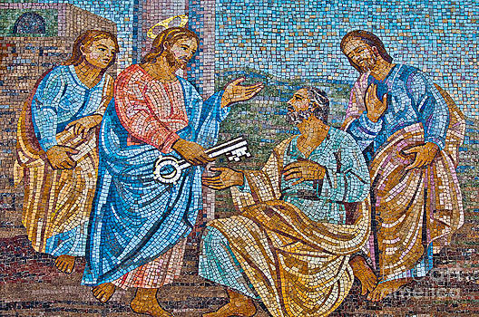 The Giving of the Keys to Saint Peter by Luis Alvarenga
