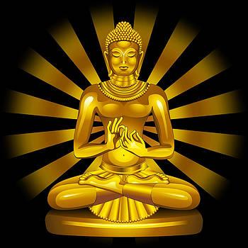 The Golden Buddha by BluedarkArt Lem