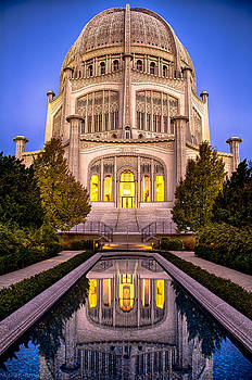 The Golden Jewel - Baha'i Temple  by Michael  Bennett