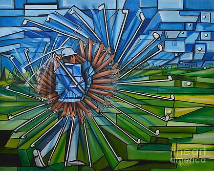 The Golfer by Ruben Archuleta - Art Gallery
