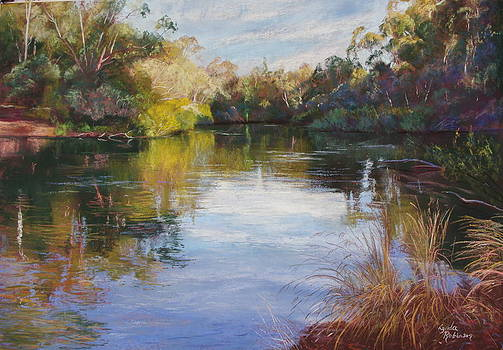 The Goulburn at McLarty's by Lynda Robinson
