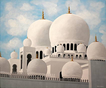 The Grand Mosque in Abu Dhabi by Robert Crooker