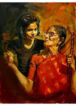 The grand mother and the grand daughter by Prashant Srivastava