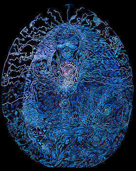 The Great Amma in black light by Lola Lonli