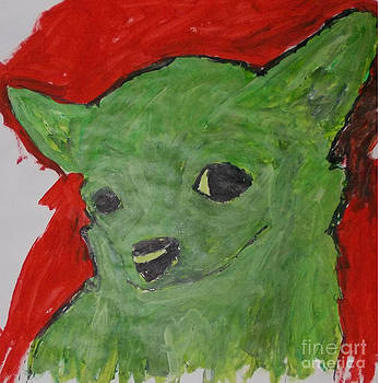 The Green Chihuahua by Patries Van Dokkum