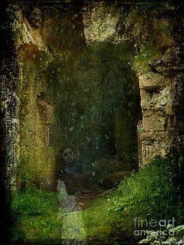 The Haunting of Minard Castle- mixed media photo composite by Patricia Griffin Brett