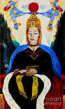 The High Priestess by An-Magrith Erlandsen