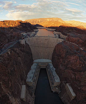 The Hoover Dam at Dusk by Philip G