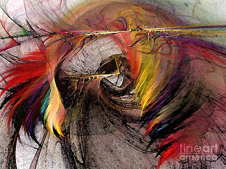 The Huntress-Abstract Art by Karin Kuhlmann