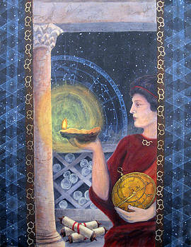 Janelle Schneider - The Innovator of Stars - Artwork for the Science Tarot
