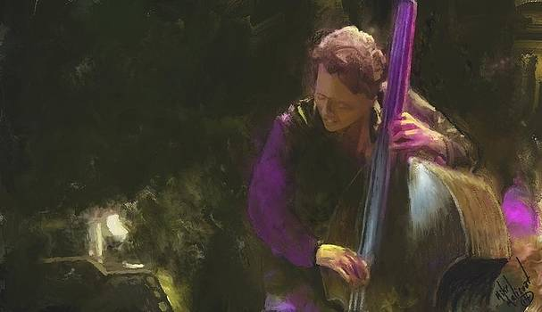 The jazz bassist by Michael Malicoat