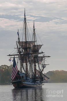 Lauren Brice - The Kalmar Nyckel on the Chester River in Maryland