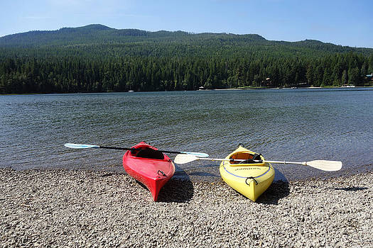 The Kayaks Are Ready by Nina Prommer