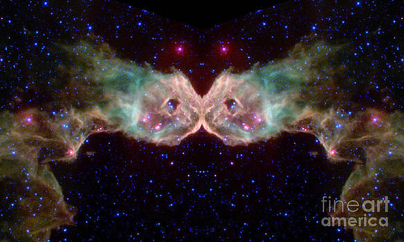 The Kissing Couple Abstract Space Art by Animated Sentiments