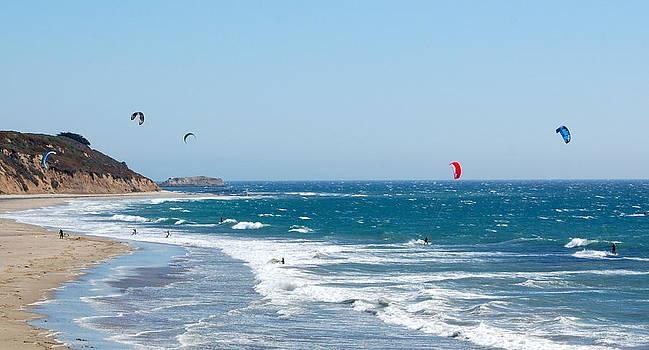 The Kite Surfers by AJ  Schibig