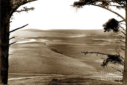 California Views Mr Pat Hathaway Archives - The lagoon at the mouth of the Carmel River  from Fish Ranch California 1905