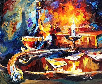 The Last Game - PALETTE KNIFE Oil Painting On Canvas By Leonid Afremov by Leonid Afremov