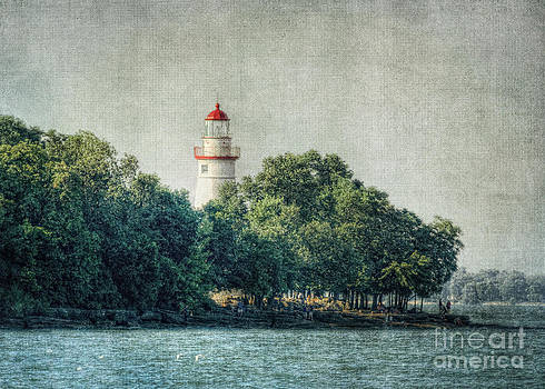 The lighthouse at Marblehead Ohio by Pamela Baker