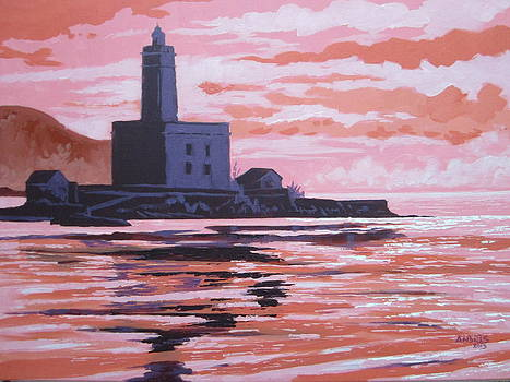 The Lighthouse of Olbia at Sunset by Andrei Attila Mezei