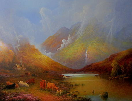 The Little Croft In The Scottish Highlands by Ray Gilronan