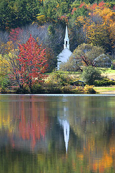 The Little White Church By The Lake by Wayne Letsch