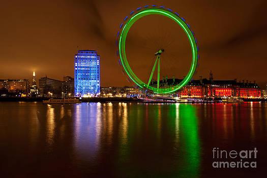 The London Eye In RGB by Pete Reynolds