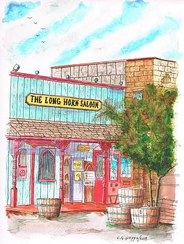 The Long Horn Saloon in Route 66, Williams, Arizona by Carlos G Groppa