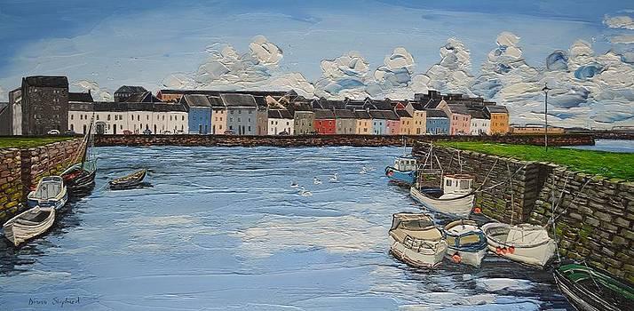 The Long Walk boats Galway Ireland by Diana Shephard