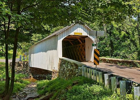 The Loux Covered Bridge by Lanis Rossi