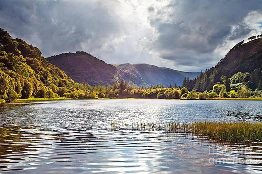 The Lower Lake at Glendalough by Derek Smyth