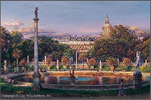 The Luxembourg Garden II La Fountaine by Cao Yong