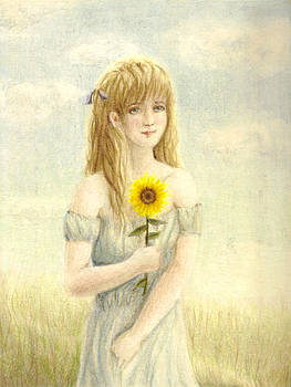 The Maiden and the Sunflower by Reve Art