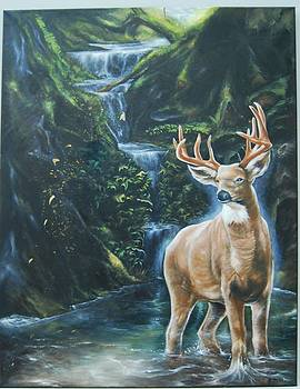 The Majestic Deer by Andrick Jean