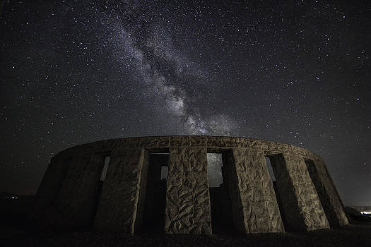 The Milky Way at Stonehenge  by Kevin L Cole
