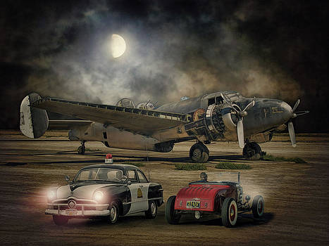 The Moon Comes Callin' A Ghostly White .... by Rat Rod Studios