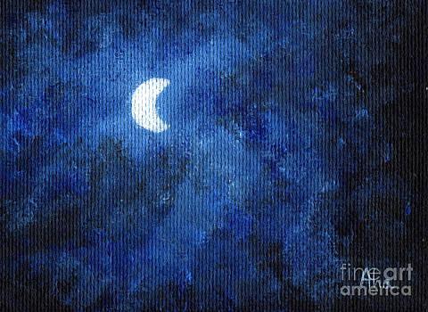 The moon by Joanna Cieslinska