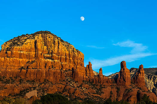 The Moon over Chicken Point by Ed Gleichman