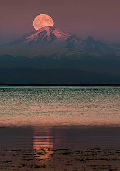 The Moon over Mount Baker by Alexis Birkill