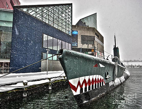 The National Aquarium and USS Torsk In A December Snow Storm by SCB Captures