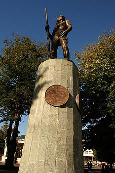 The Native Indian Lautaro -Plaza Concepcion by Thomas D McManus