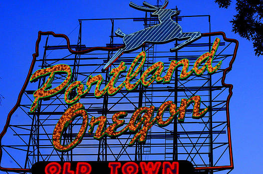 The New Portland Oregon Sign day time by DerekTXFactor Creative