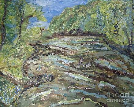 The New River Spring Morning by Elizabeth Briggs