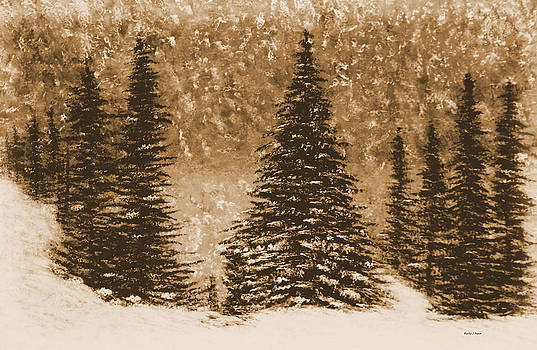 Kathy J Snow - The Northern Snowfall in Sepia