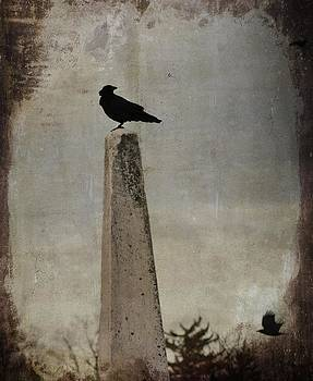 Gothicrow Images - The Obelisk And The Windblown Blackbird